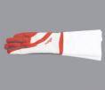 Gant bicolore faisant partie de l'habillement